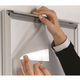 25mm White SNAP Front Opening Poster Frame: A4